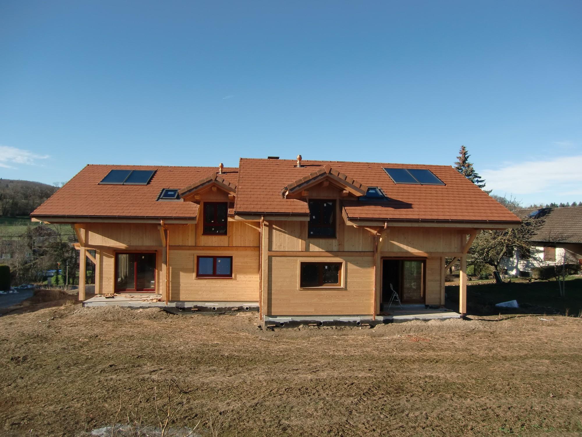 Maison jumele ossature bois amazing maison gico en for Construire une maison ossature bois