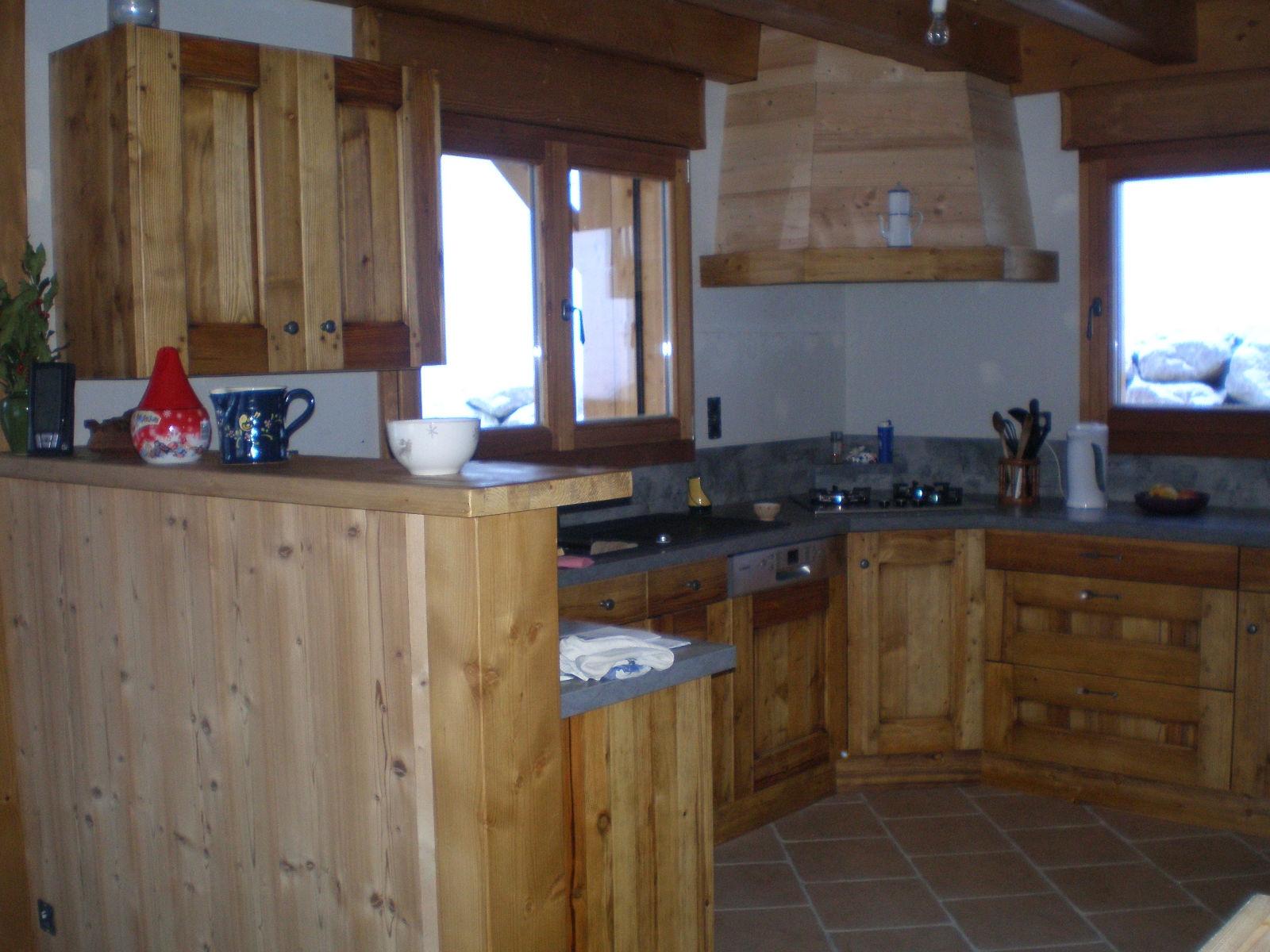 Favori Chalet avec intérieur rustique sur Seytroux | Jolly Construction Bois EN31